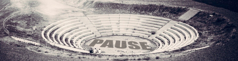 Pause im Amphitheater